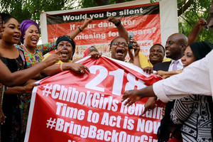Members of the #BringBackOurGirls campaign (Reuters / file)