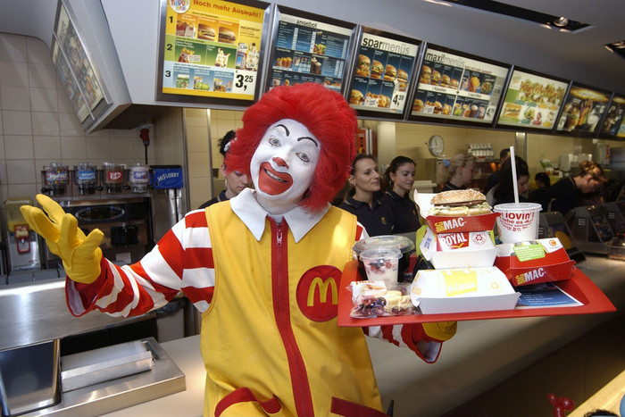 McDonald's has cut back on the number of public appearances being made by the chain's clown Ronald McDonald (Getty)
