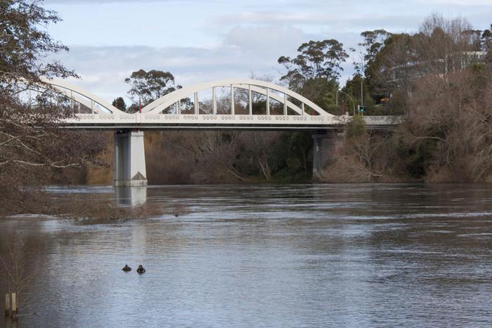 A bridge over the Waikato river near where the body was found (File)