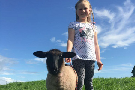 Ella Ensor and her pet lamb Crystal (Facebook)