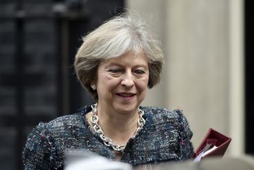 Theresa May outside 10 Downing St (Reuters)