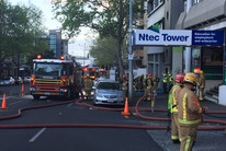The fire was quickly contained (Newshub)