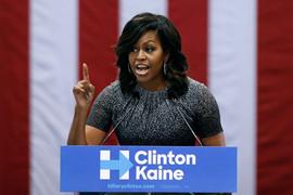 Michelle Obama campaigning for Hillary Clinton in Phoenix, Arizona (Getty)