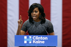 Michelle Obama: Donald Trump has lost touch 'living life high up in a tower'