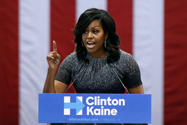 Michelle Obama campaigning for Hillary Clinton in Phoenix, Arizona (Getty)