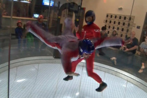 Skydiving facility lets people leave wheelchairs to fly