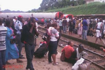People left stranded after the train derailed (CRTV)