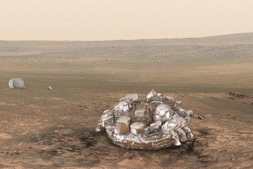 What Schiaparelli should have looked like on Mars (ESA)