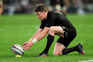 All Black Beauden Barrett looks to boost kicking stats