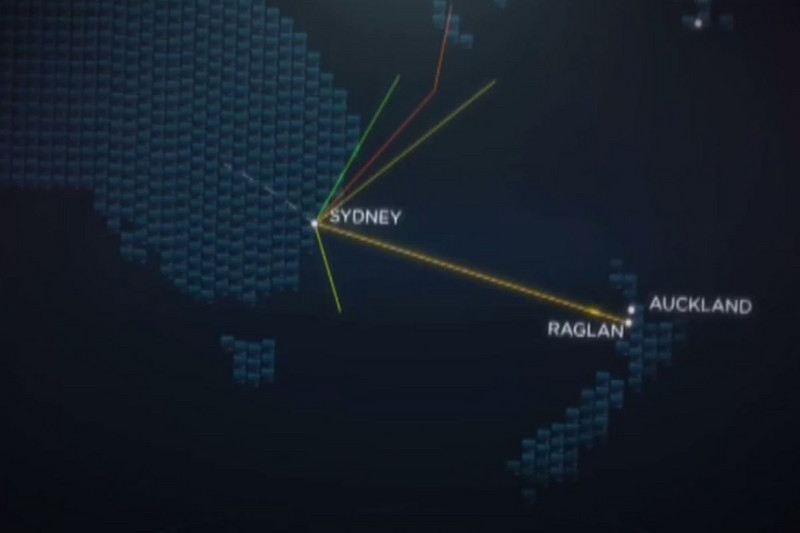 Internet cable routes (Newshub.)