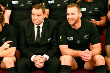Coach Steve Hansen and captain Kieran Read (Getty)