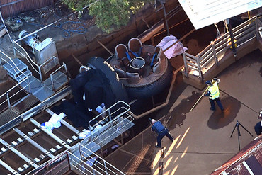 Four people were killed when the Thunder River Rapids ride malfunctioned on Tuesday (AAP)