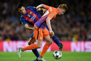 Kevin De Bruyne in action against Barcelona (Getty image)