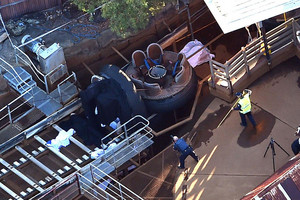 The scene of the tragedy at Dreamworld (Supplied)