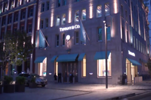 The Tiffany & Co building at Britomart (Newshub.)