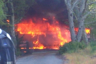 The bus fire (supplied)