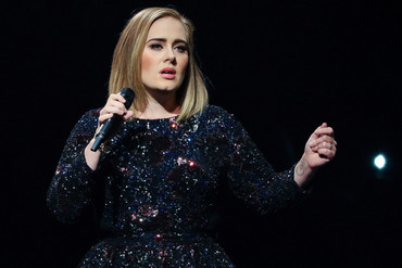 Adele performing in Michigan last month (Getty)