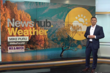 Mike Puru's first appearance as weather presenter for Newshub Live at 6