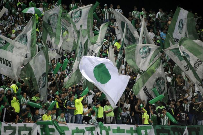 Fans celebrate Atletico Nacional making it to the final last week (Getty)