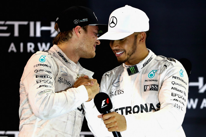 Lewis Hamilton and Nico Rosberg (Getty Images)