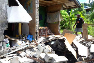 A magnitude 7.8 earthquake on Friday caused widespread damage to some villages and islands (Reuters)