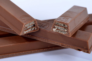 Kit Kat - has more than 2000kj per 100g, at least for now (Getty)