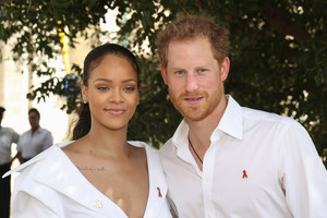 Rihanna and Prince Harry in Barbados (AAP)