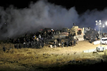 Protesters teargassed at Standing Rock (file)