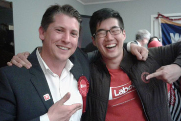 Michael Wood and a supporter (Michael Wood / Twitter)