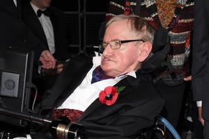 Stephen Hawking in October (Getty)
