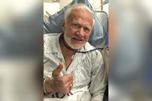 Buzz Aldrin in hospital (Twitter/@therealbuzz)