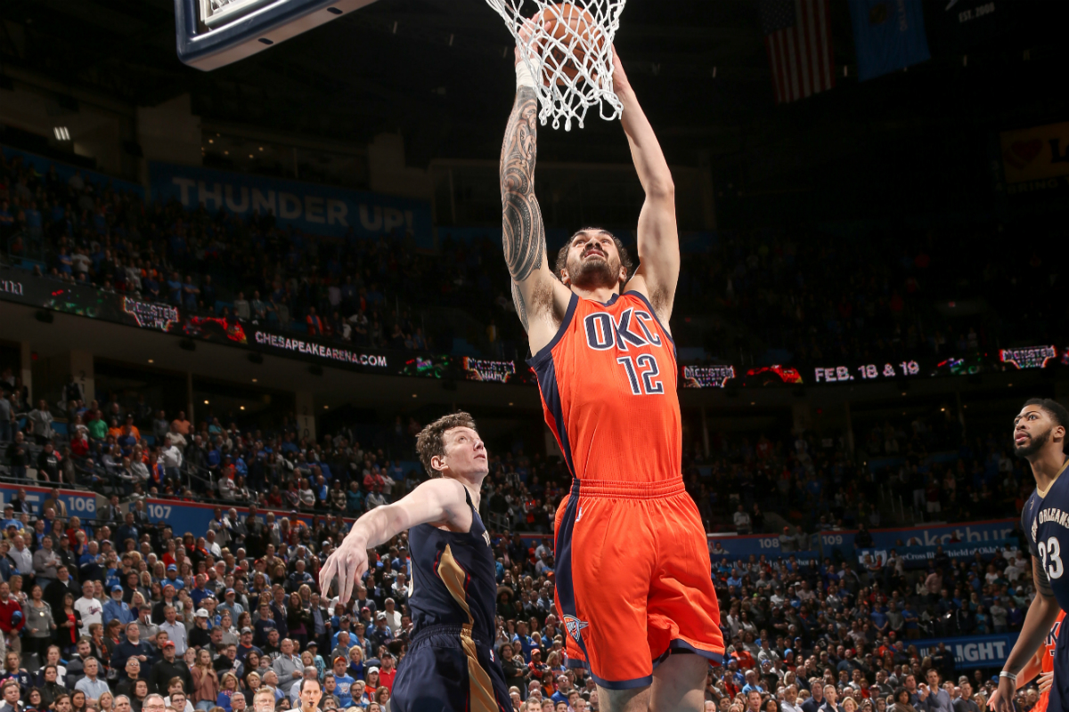 Westbrook's Triple-Double Leads Thunder Past Hawks 102-99