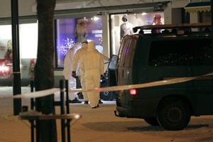 Police investigators at the area were three women were killed (Reuters)