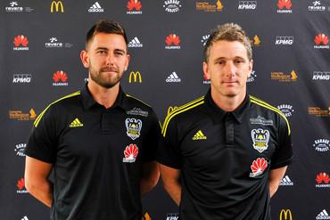 Wellington Phoenix's new interim head coaching duo of Des Buckingham and Chris Greenacre (Photosport image)
