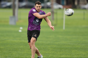 Billy Slater in action at Melbourne training (Getty image)