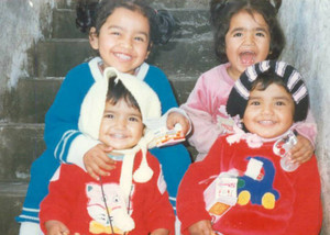 Sehar Moughal and her three sisters (supplied)