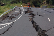 SH1 near Kaikoura was severely damaged by the November 14 quake (Supplied)