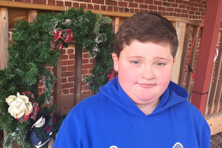 Santa told nine-year-old Anthony Mase to stop eating fast food (Twitter)