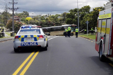The scene of the crash on Waipa Rd (Supplied)