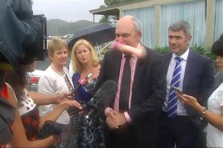 Stephen Joyce had a dildo thrown at his face at Waitangi (Newshub.)