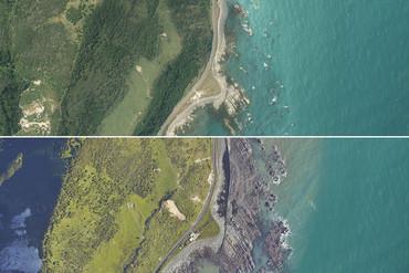 Kaikoura's coastline (LINZ+NZTA/Supplied)
