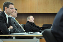 Kim Dotcom during his extradition hearing (AAP)