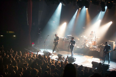 Eagles of Death Metal perform a few moments before the Bataclan was stormed. (Getty)