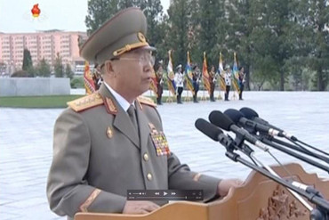 North Korea's army chief of staff Ri Yong Gil. Image taken from KRT file video footage (Reuters)