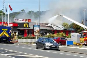 Fire forces evacuation of Upper Hutt McDonald's