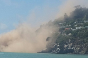Sumner beach as the earthquake hit (Tania Anderson)