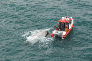 Fisherman rescued after 7 hours in water