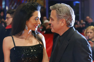 Amal Alamuddin Clooney with her husband George (Reuters)