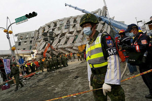 Signs of life in Taiwan earthquake rubble