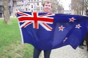 Support for current flag amid UK Waitangi celebrations